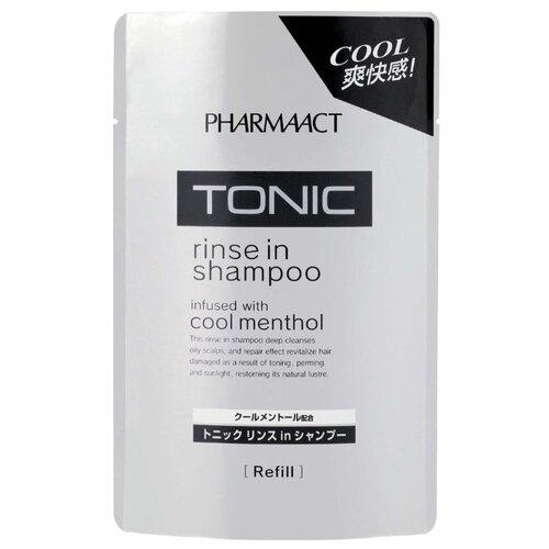 KUMANO шампунь с ополаскивателем Pharmaact Tonic infused with cool menthol 400 мл запасной блокШампуни<br>