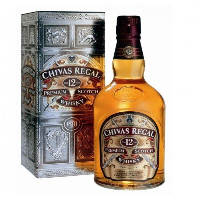 Виски Chivas Regal Blend De Lux 12 лет, 1л, подарочная упаковка