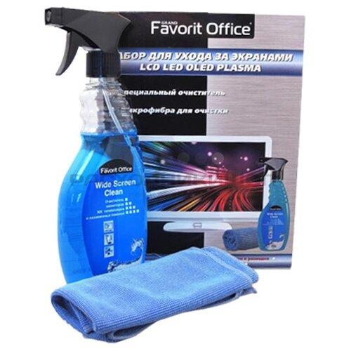Купить Набор Favorit Office для ухода за экранами LCD LED OLED PLASMA чистящий спрей+сухая салфетка