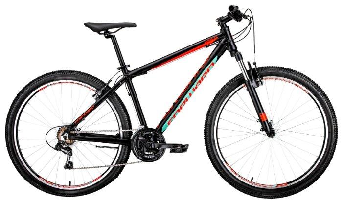 Горный (MTB) велосипед FORWARD Apache 27.5 1.0 (2019) рама 19 черный/красный матовый