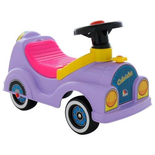 Купить Каталка-толокар Molto Кабриолет (7963) со звуковыми эффектами фиолетовый, Каталки и качалки