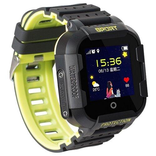 Фото - Детские умные часы c GPS Smart Baby Watch KT03 черный/зеленый детские умные часы smart baby watch fa27t черный