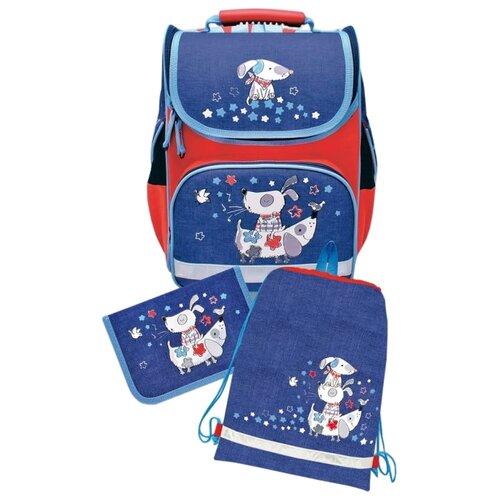Купить Феникс+ Ранец Собаки с наполнением, синий/красный, Рюкзаки, ранцы