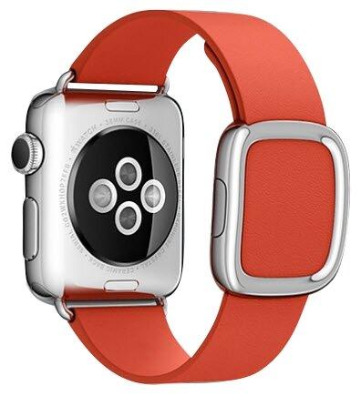 Karmaso Ремешок для Apple Watch 38 мм с застежкой красный