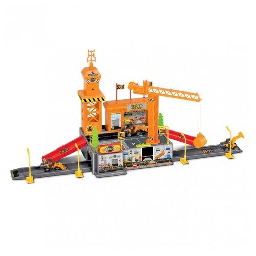 Guangwei Игровой набор Строительная база P1206A-2 оранжевый/красный/серыйДетские парковки и гаражи<br>