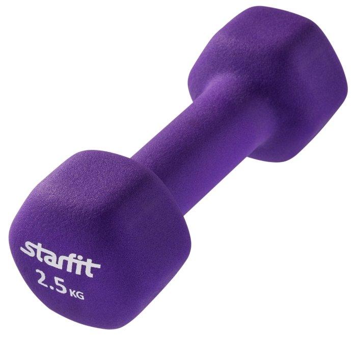Гантель цельнолитая Starfit DB-201 2.5 кг фиолетовая