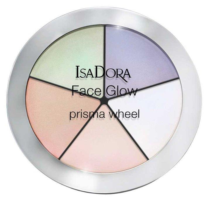 IsaDora Палетка хайлайтеров для лица Face Glow prisma wheel