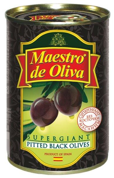 Maestro De Oliva Маслины супергигант без косточки в рассоле, жестяная банка 425 г