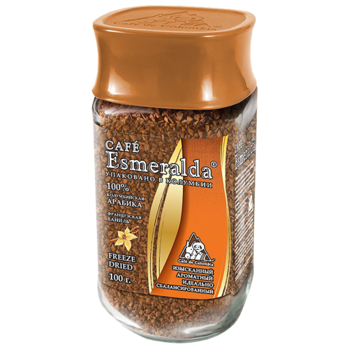 Кофе растворимый Cafe Esmeralda Французская ваниль 100 гРастворимый кофе<br>