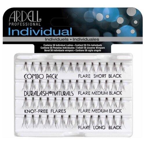 Ardell пучки ресниц Duralash Knot-Free Flares Combo Pack Black black пучки ресниц ardell ardell ar043lwxzj87