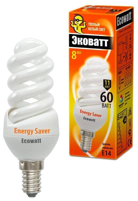 Лампа люминесцентная Ecowatt M FSP 827, E14,