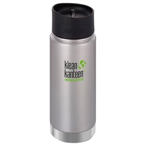 Термос-фляга Klean Kanteen Insulated Wide Cafe Cap (0,473 л) brushed stainlessТермосы и термокружки<br>