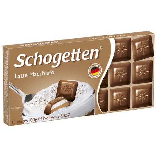 Шоколад Schogetten Latte Macchiato молочный с кофейно-молочной начинкой, 100 г