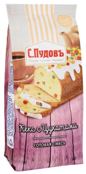 С.Пудовъ Мучная смесь Кекс с цукатами, 0.4 кг