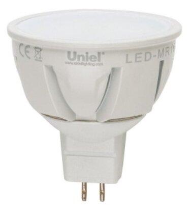 Uniel MR16 GU5.3 220V 5W(450lm 110°) 4000K 4K матов 50x55 алюм. LED-JCDR-5W/NW/GU5.3/FR (арт. 439964)