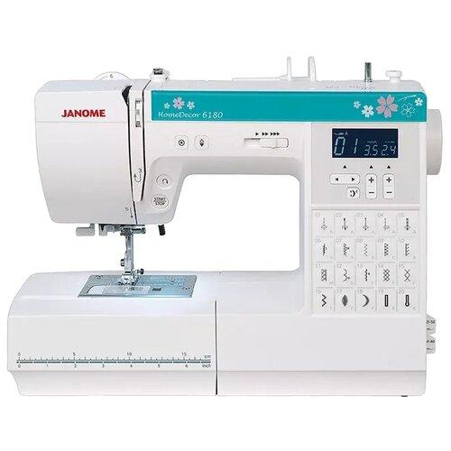 Швейная машина Janome HomeDecor 6180, белый/зеленый