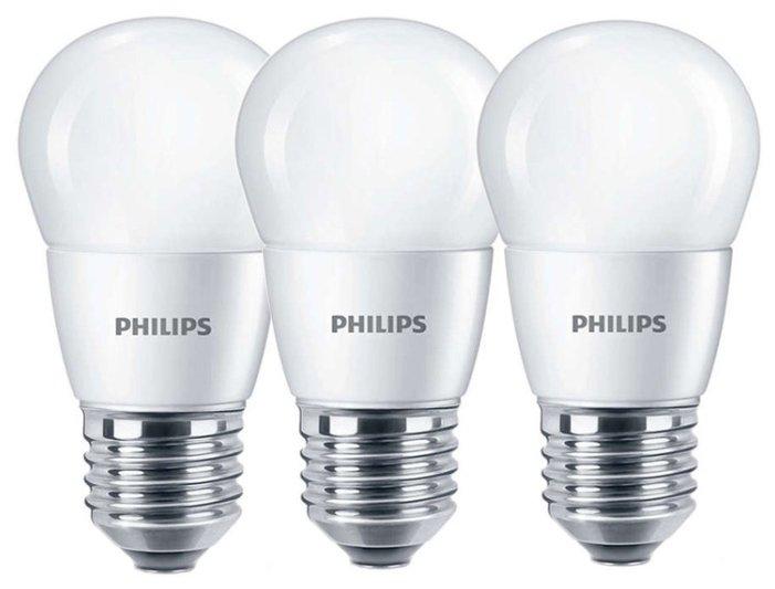 Упаковка светодиодных ламп 3 шт Philips E27, P48, 6.5Вт