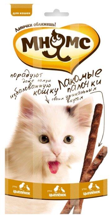 Лакомство для кошек Мнямс Лакомые палочки Цыпленок, утка