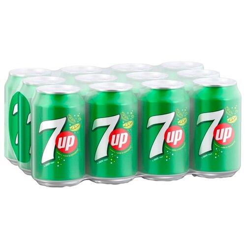 Газированный напиток 7UP Лимон-Лайм, 0.33 л, 12 шт.