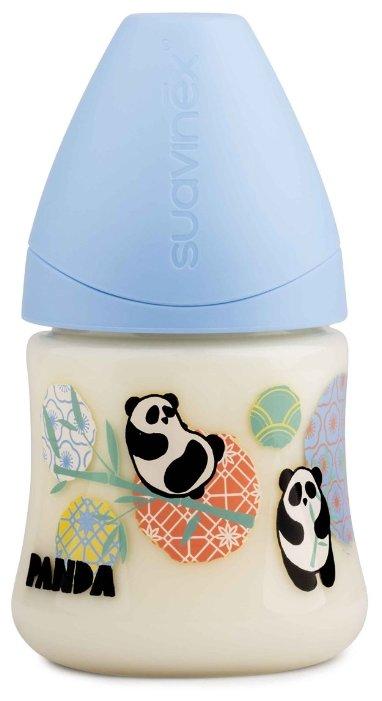 Suavinex Бутылочка полипропиленовая антиколиковая с анатомической латексной соской 150 мл Панда с ро