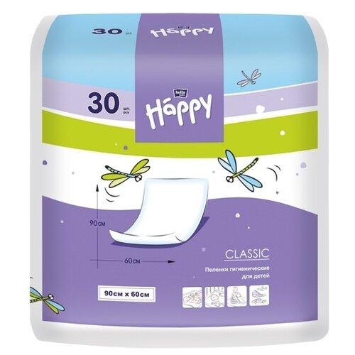 Одноразовые пеленки Bella Baby happy Classic 60х90 30 шт.Пеленки, клеенки<br>