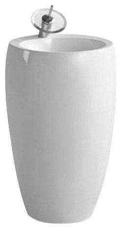 Раковина с пьедесталом 48 см Laguraty 0001K
