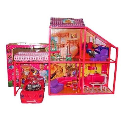 Shantou Gepai My Lovely Villa с машиной 6981, розовый
