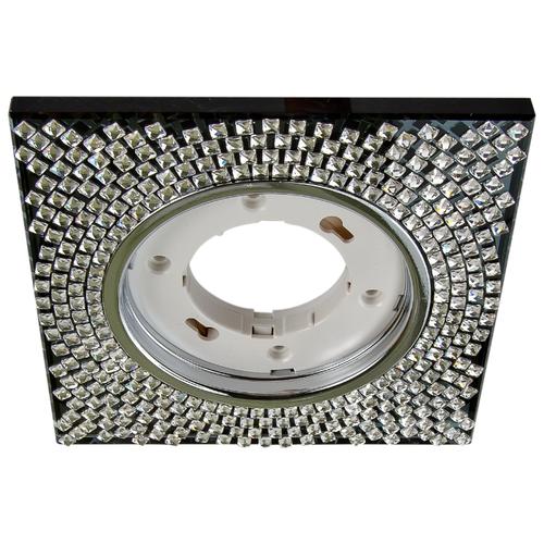 Встраиваемый светильник De Fran FT 9110 CH, хром / прозрачные кристаллыВстраиваемые светильники<br>