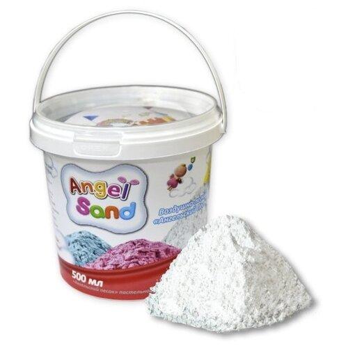 Кинетический песок Angel Sand Базовый, белый, 0.5 л, пластиковый контейнер кинетический песок angel sand творчество 3 цвета 1 2 л