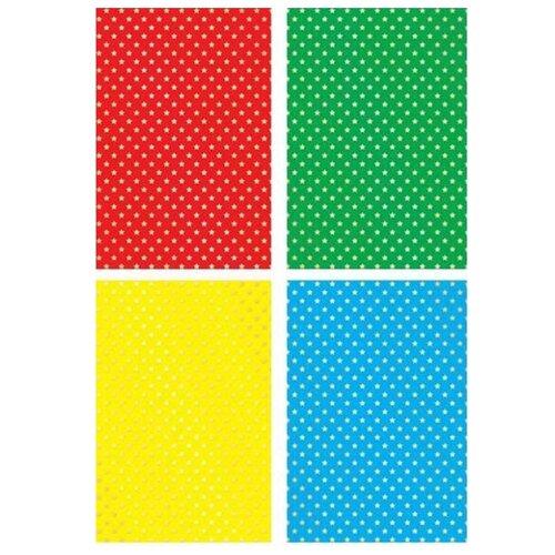 Купить Цветной картон с тиснением Звездочки Апплика, A4, 4 л., 4 цв., Цветная бумага и картон