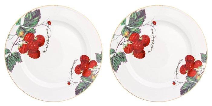 Elan gallery Набор обеденных тарелок Ягода - малина 26,5 см, 2 шт