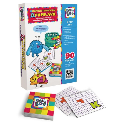 Набор карточек Kribly Boo Лингвистический Архикард 63729 5x5 см 90 шт.