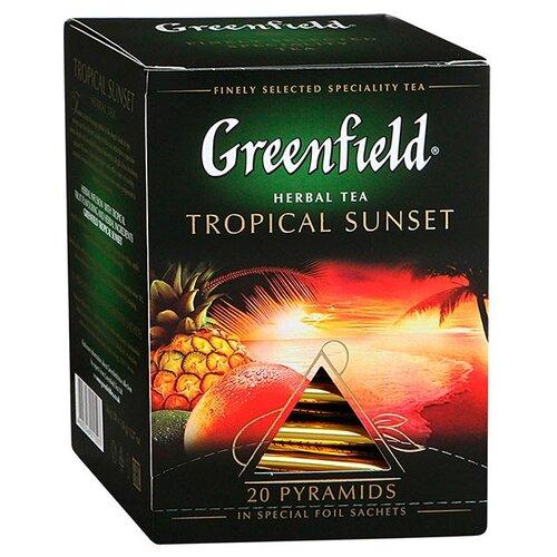 Чайный напиток красный Greenfield Tropical Sunset в пирамидках, 20 шт.Чай<br>