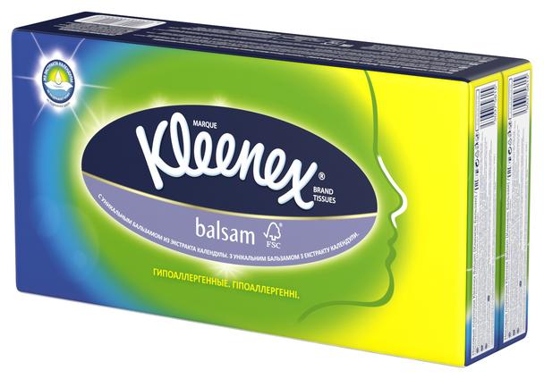 Платочки носовые KLEENEX Бальзам 9шт*8 запайка