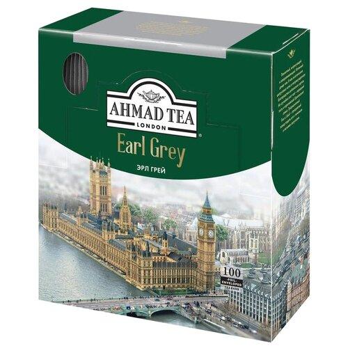 Чай черный Ahmad Tea Earl Grey в пакетиках, 100 шт. twinings earl grey tea черный ароматизированный чай в пакетиках 25 шт