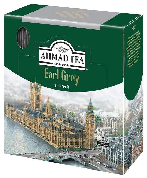 Купить Чай черный Ahmad Tea Earl Grey с ароматом бергамота в пакетиках, 200 г, 100 шт. по низкой цене с доставкой из Яндекс.Маркета (бывший Беру)