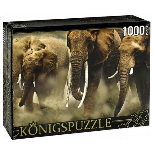 Купить Пазл Рыжий кот Konigspuzzle Стадо слонов (КБК1000-6464), 1000 дет., Пазлы