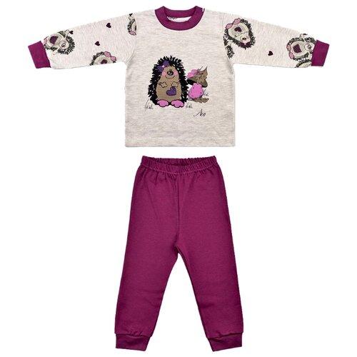 Пижама LEO размер 86, бежевый/фиолетовыйДомашняя одежда<br>