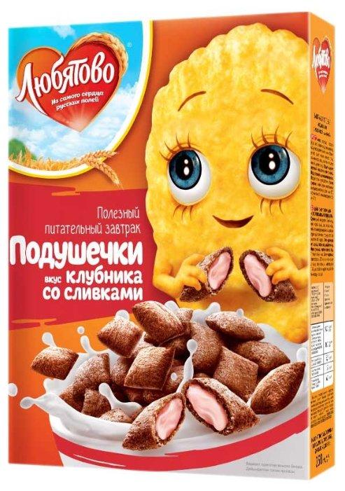 Готовый завтрак Любятово Подушечки с начинкой