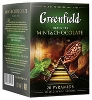 Чай черный Greenfield Mint & Chocolate ароматизированный в пирамидках