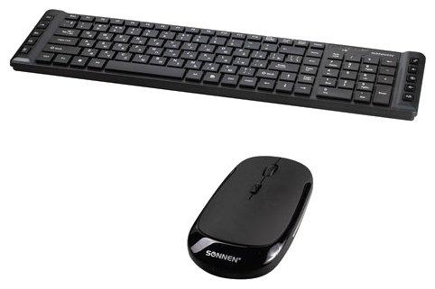 SONNEN Клавиатура и мышь SONNEN KB-S100 Black USB