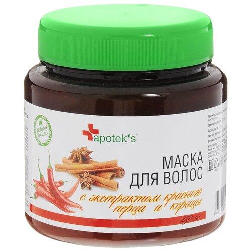 Apotek's Маска для волос с экстрактом красного перца и корицы, 250 мл недорого
