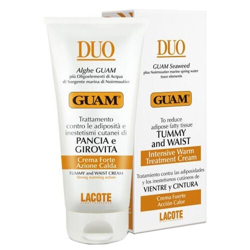 Крем Guam Duo для живота и талии с разогревающим эффектом 150 млСредства для похудения и борьбы с целлюлитом<br>