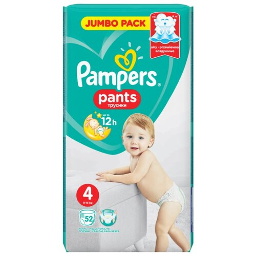 Купить Pampers трусики Pants 4 (9-15 кг) 52 шт., Подгузники
