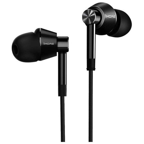 Наушники 1MORE Dual Driver In-Ear E1017 black 1more triple driver in ear earphone with in line microphone and remote e1001