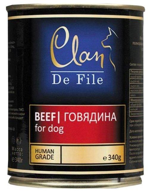 Корм для собак CLAN (0.34 кг) 6 шт. De File Говядина для собак