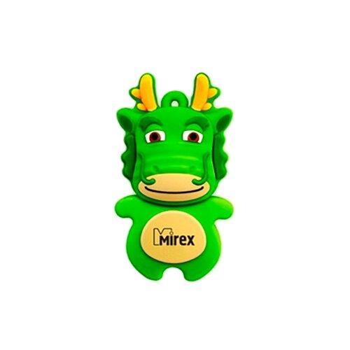 Фото - Флешка Mirex DRAGON 8GB зеленый флешка mirex dragon 8gb красный