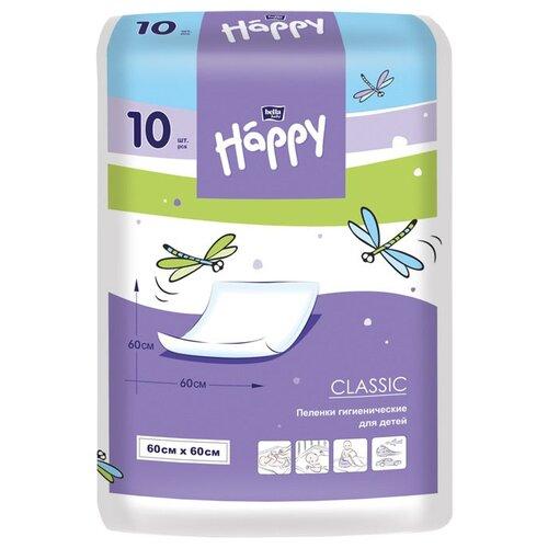 Одноразовые пеленки Bella Baby happy Classic 60х60 10 шт.