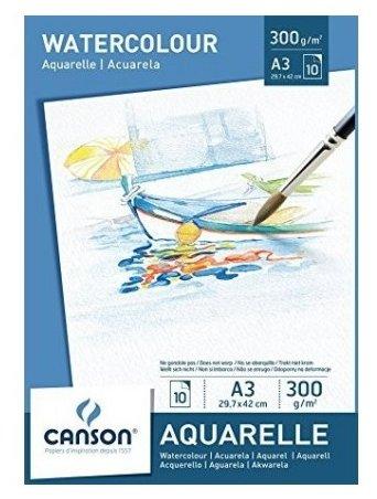 Альбом для акварели Canson Aquarelle 21 х 14.8 см (A5), 300 г/м², 10 л.