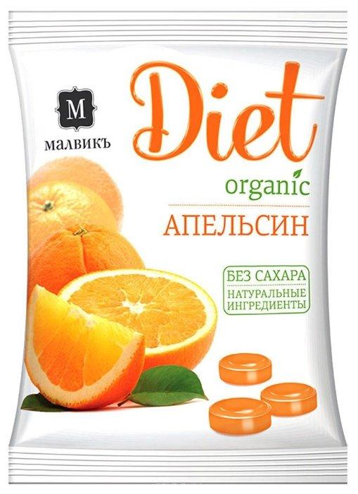 Леденцовая карамель МАЛВИКЪ Апельсин на изомальте 50 г